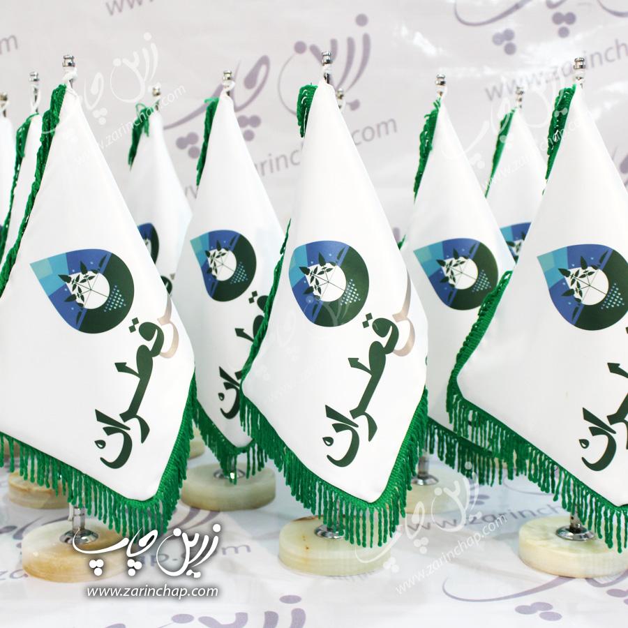 ساخت و چاپ اختصاصی محصولات ویژه، پرچم رومیزی – زرین چاپ