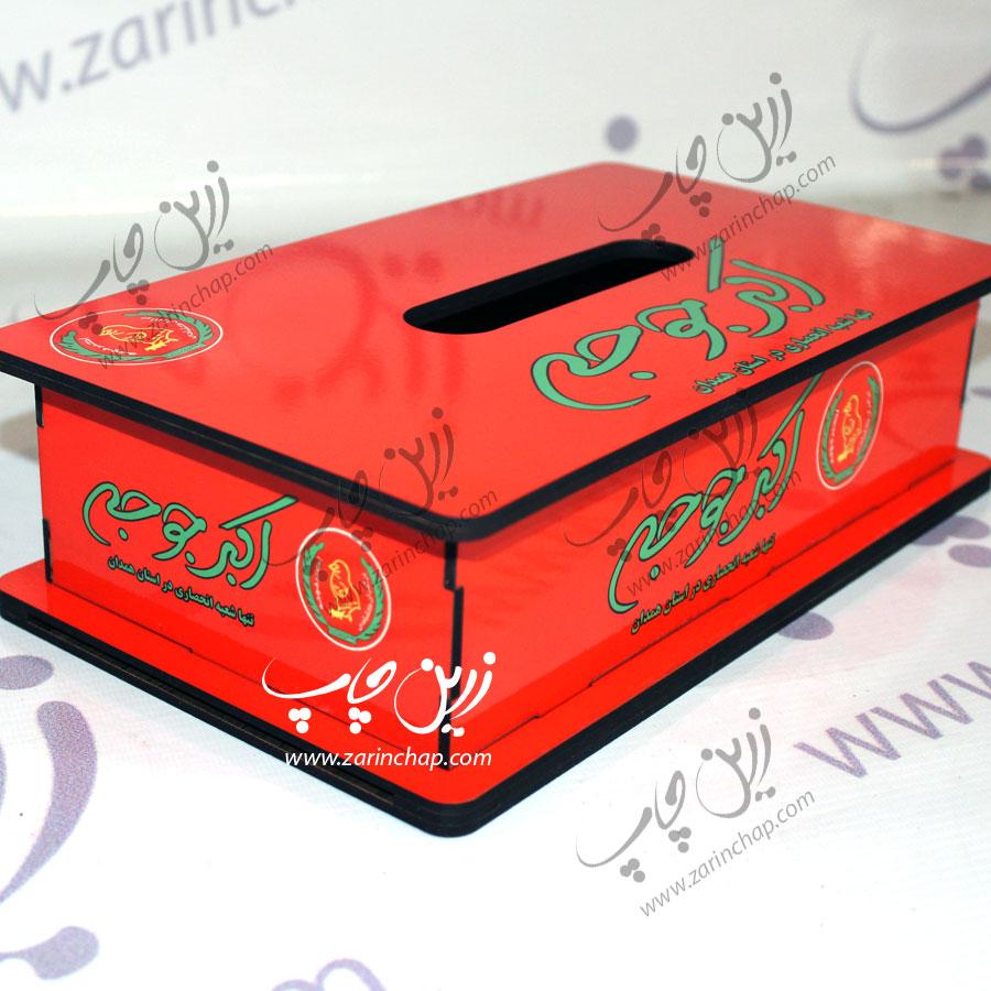 نمونه کار: جعبه دستمال کاغذی MDF ؛ سفارش اکبر جوجه همدان